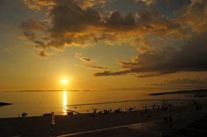 豊崎美らSUNビーチからの夕日